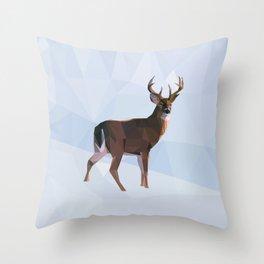 Reindeer in a winterwonderland Throw Pillow