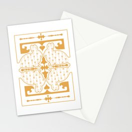 Rabbit in the mirror 2 Stationery Cards