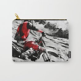 Owning The Mountain  -  Motocross Racer Carry-All Pouch