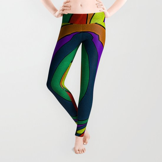 Abstract #433 Leggings