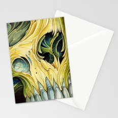 yellow water color skull Stationery Cards