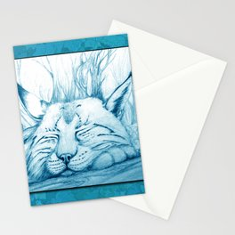 Bobcat nap Stationery Cards