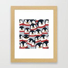 Merry Christmas Penguins! Framed Art Print