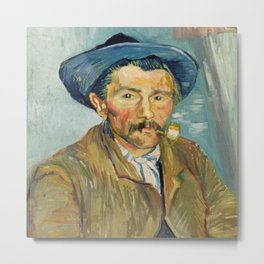 Vincent Van Gogh The Smoker (Le Fumeur) Metal Print