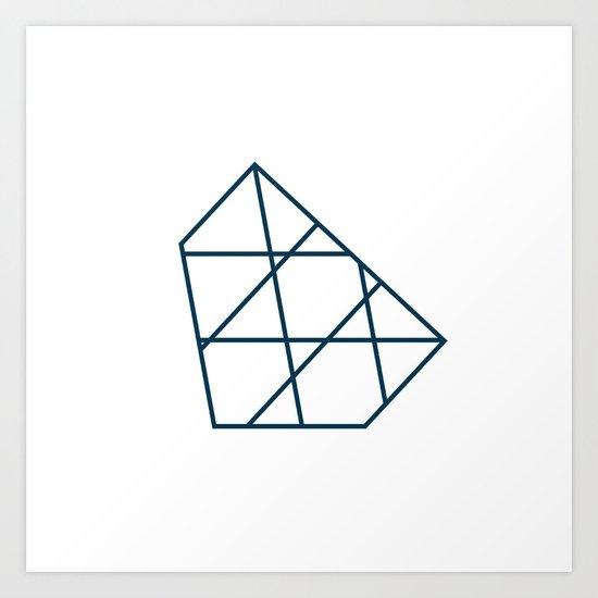 #267 Iceberg – Geometry Daily Art Print