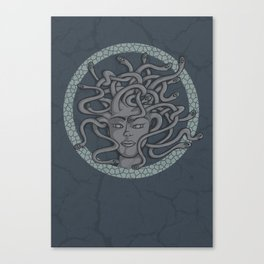 Snakes in her hair Canvas Print