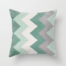 Wintergreen - Chevron Throw Pillow