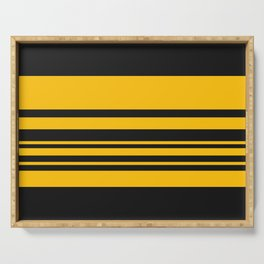 Yellow stripes on black Serving Tray