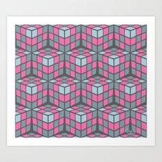 cascade - pink Art Print