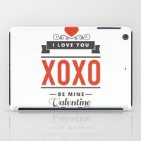 valentines iPad Cases featuring Valentines Day by cat&wolf
