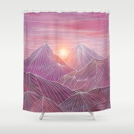 Lines in the mountains 02 Shower Curtain