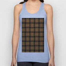 Large Brown Weave Unisex Tank Top