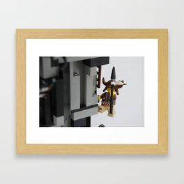 Lego Indian climbing Framed Art Print