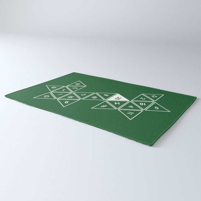 Green Unrolled D20 Rug