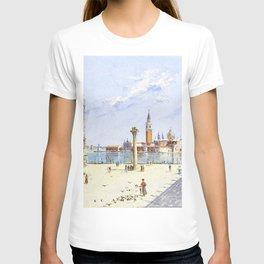 Antonietta Brandeis - The Piazzetta, The Ducal Palace, Venice - Digital Remastered Edition T-shirt