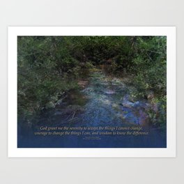 Serenity Prayer Blue Creek Art Print