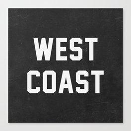 West Coast - black version Canvas Print