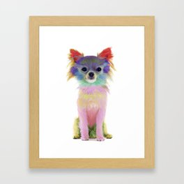 Colorful Chihuahua Framed Art Print