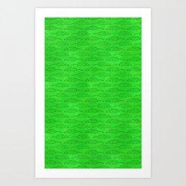 Palm Traffic! (Green) Art Print