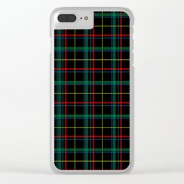 Plaid Tartan Clear iPhone Case