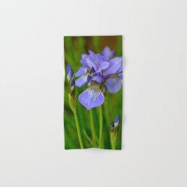 Siberian Iris by Teresa Thompson Hand & Bath Towel