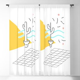 Cactus and confetti Blackout Curtain