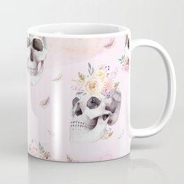 Floral Skull Pattern Kaffeebecher