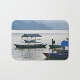 PHEWA LAKE SILHOUETTES NEPAL Bath Mat