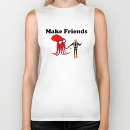 Make Friends Biker Tank