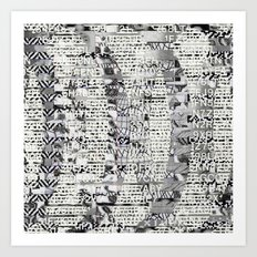 The Eternal Return Of The Unique Event (P/D3 Glitch Collage Studies) Art Print