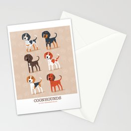 Coonhounds! Stationery Cards