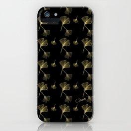 Ginkgo Black Gold iPhone Case