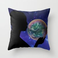 bubble Throw Pillows featuring Bubble by Cs025