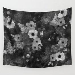 Flowers Grey Wall Tapestry
