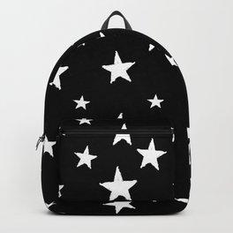 Hand-Drawn Stars (White & Black Pattern) Backpack