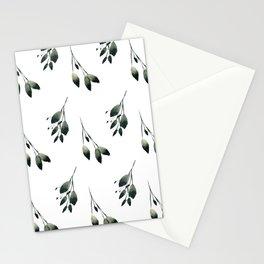 Winter Leaf Pattern Stationery Cards