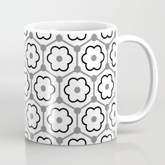 Floral Graphene - White - Gray - Black by miavaldez