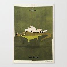 012_crocodile Canvas Print