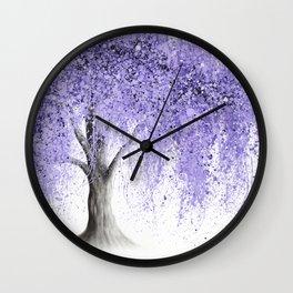Purple Wishing Willow  Wall Clock