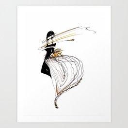 NEON GIRL Art Print