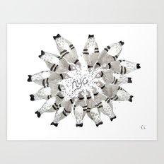 NYC Pigeons Art Print