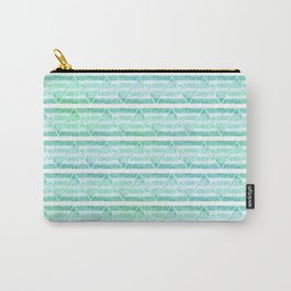 chevron blue&green Carry-All Pouch
