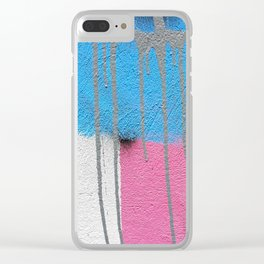 street marks pastel Clear iPhone Case