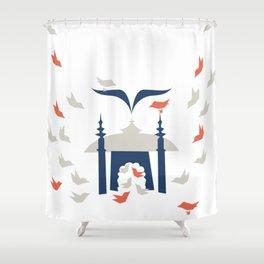 Gathering Birds (Home) Shower Curtain
