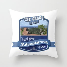 The Crags Trail Throw Pillow