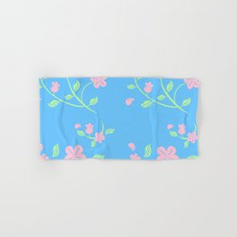 Pink Flower Backgroud Hand & Bath Towel