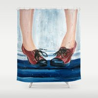 heels Shower Curtains featuring Heels by MardyArts