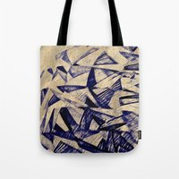 planes Tote Bags featuring Paper Planes by Fernando Vieira
