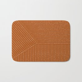 Lines (Rust) Bath Mat