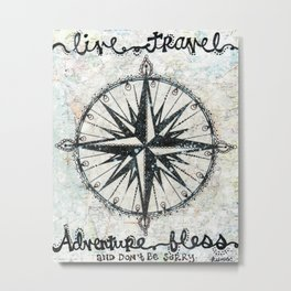 Live Travel Adventure Bless Metal Print
